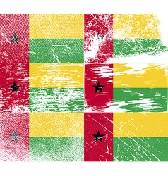 Flag of Guinea-Bissau with old texture vector image