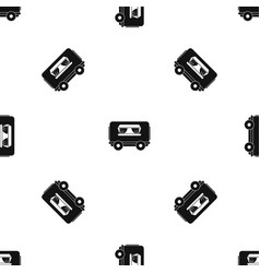 food trailer pattern seamless black vector image
