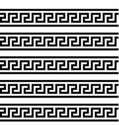 greek key typical egyptian assyrian and greek vector image
