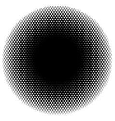 Halftone circle element of lines forming a grid vector