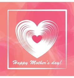 Happy mother day colorful background vector image