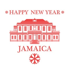 Happy New Year Jamaica vector image