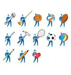 human skills set vector image