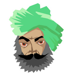 Indian man in turban vector