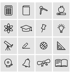 Line education icon set vector