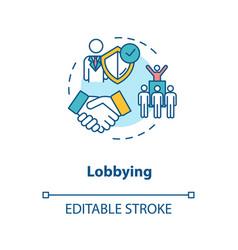 Lobbying concept icon vector