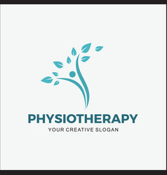 Logo modern physiotherapy vector