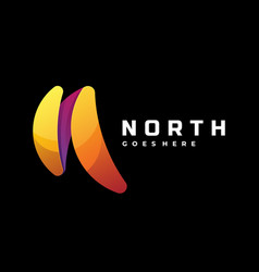 logo north gradient colorful style vector image