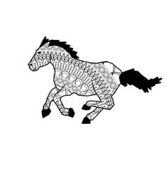 Mandala horse icon vector