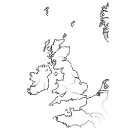 Map the english lands uk great britain vector