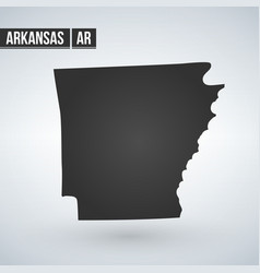 Map us state arkansas on a white vector