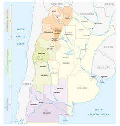 map wine growing areas in argentina vector image