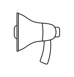 Megaphone icon Communication design vector image