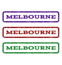 melbourne watermark stamp vector image