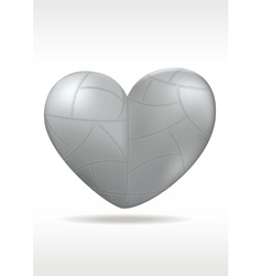 Metallic heart vector image