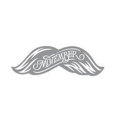 Movember vintage lettering prostate cancer vector
