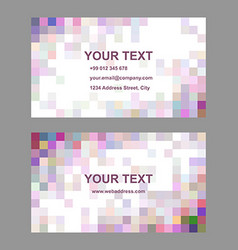 Multicolor square design business card template vector