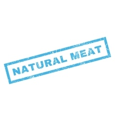 Natural Meat Rubber Stamp vector image