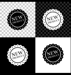 new product label badge seal sticker tag vector image