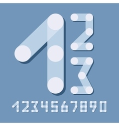 Numbers set modern style Icons vector image