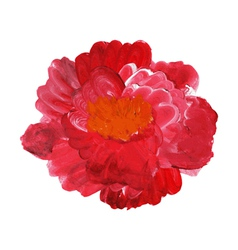 oil painted rose vector image