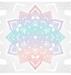 outline abstract color mandala vector image