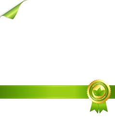Paper and eco award vector