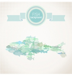 Paper fish background vector