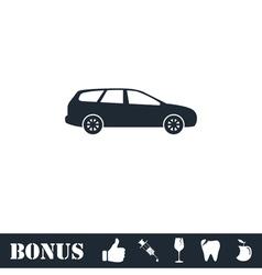 Passenger car icon flat vector