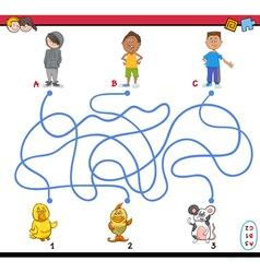 Path maze vector