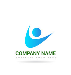 people logo 3 vector image
