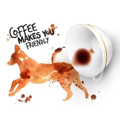 Poster wild coffee dog vector image