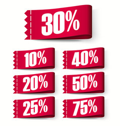 price-tag labels red discount labels super sale vector image