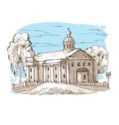 Russian Orthodox church vector