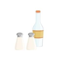 Salt Pepper And Milk Baking Process Kitchen vector
