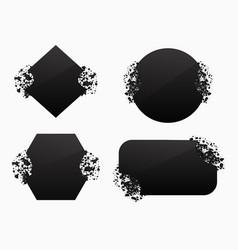set of black explosion black banners vector image