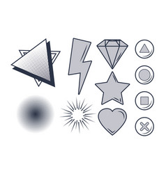 set of videogames items vector image