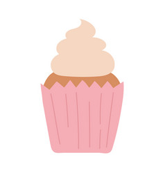 sweet cupcake dessert baked isolated icon design vector image