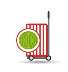 trolley shop juicy watermelon fruit vector image