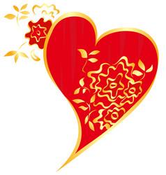 valentine floral isol vector image