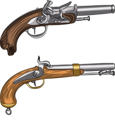 vintage pistols vector image
