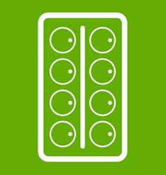 Watercolor icon green vector