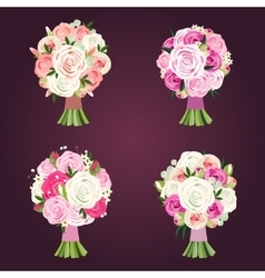Wedding bouquets vector image