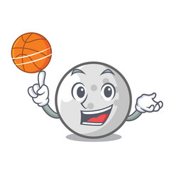 with basketball golf ball character cartoon vector image