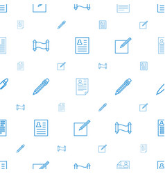 Write icons pattern seamless white background vector
