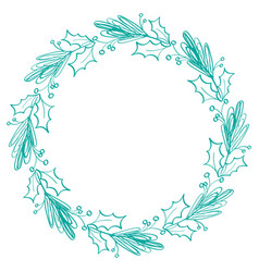 flourish calligraphy vintage holiday frame and vector image vector image