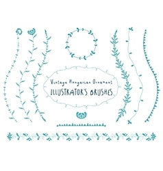 Hungarian floral ornament vector image