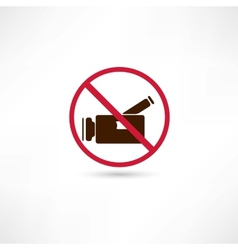 No video vector image vector image