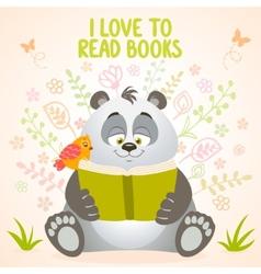 panda reads vector image