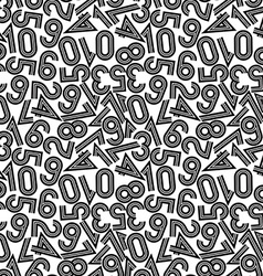 seamless pattern with numbers vector image vector image